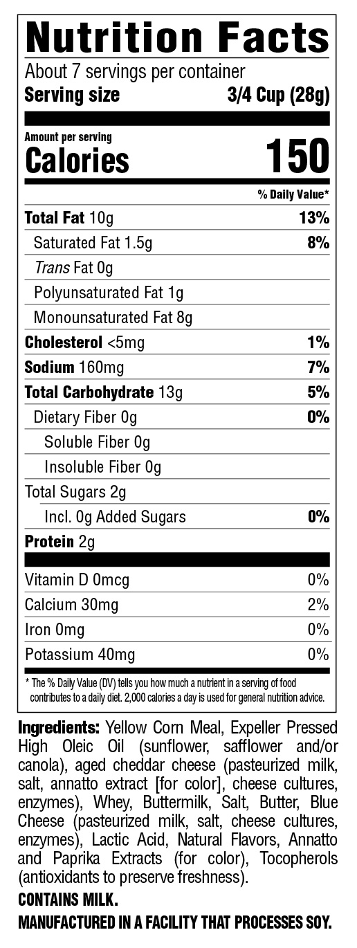 Cheese Puffs Original Nutritional Information
