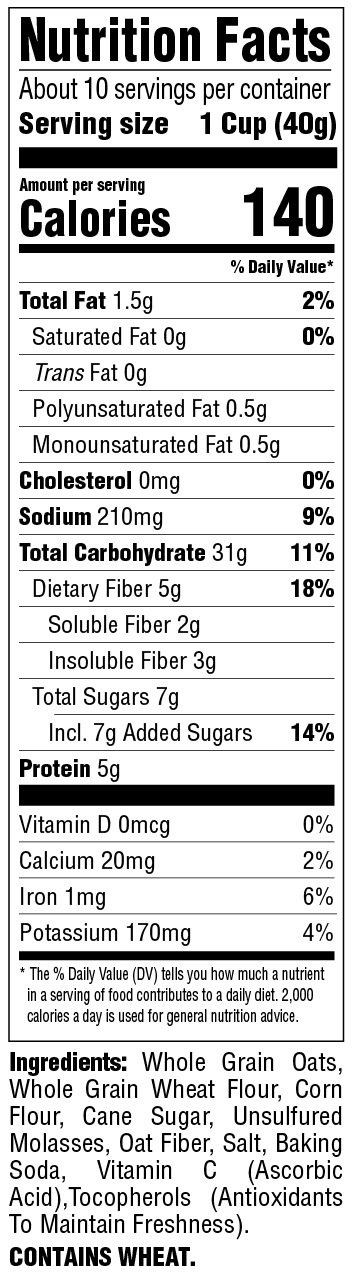 Classic Spoonfuls Original Nutritional Information
