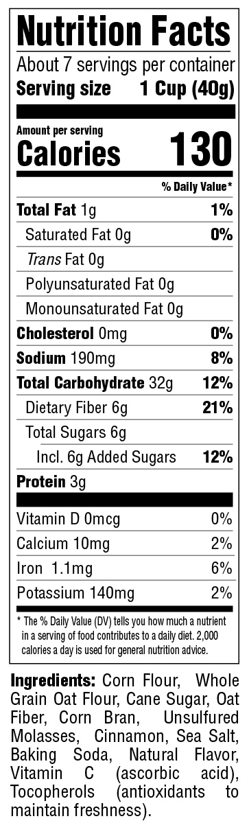 Puffins Cinnimon Nutritional Information