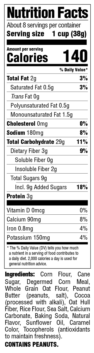Puffins_Peanut Butte Chocolate Nutritional Information