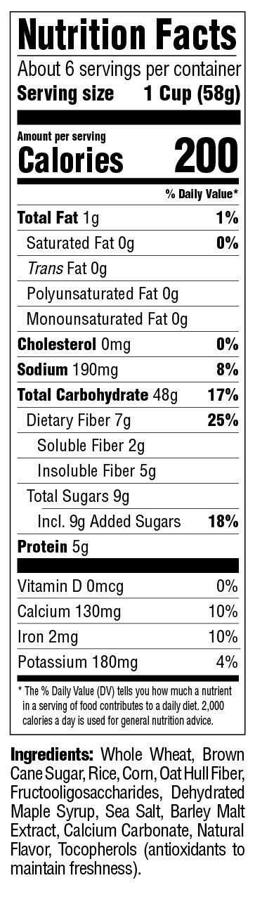 Sqaurefuls Multigrain Nutritional Information