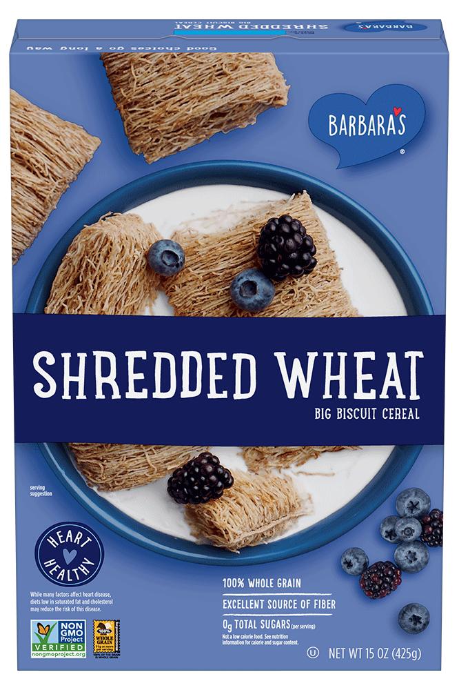 Barbara's Shredded Wheat Cereal Box