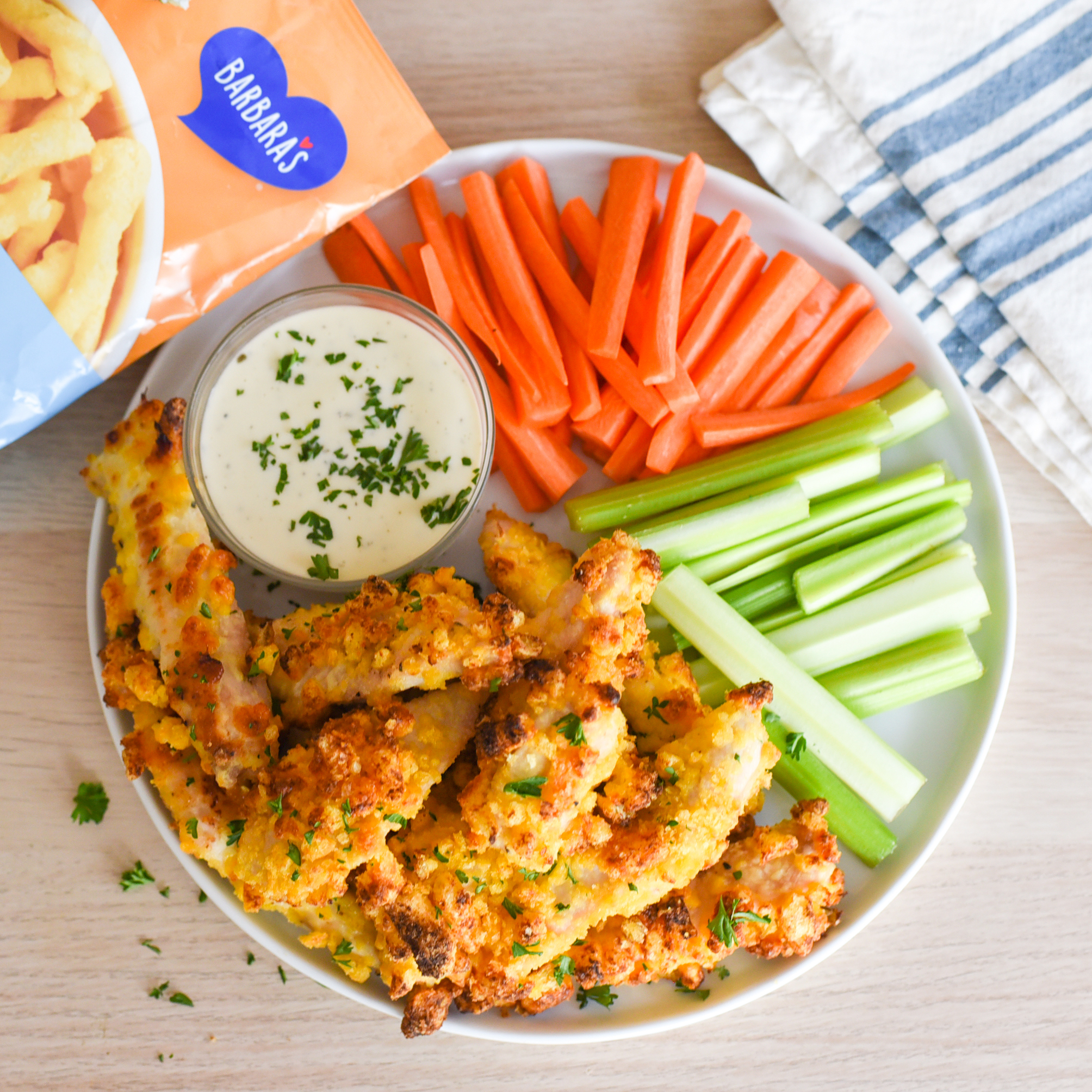 Chicken Tenders with Cheese Puffs