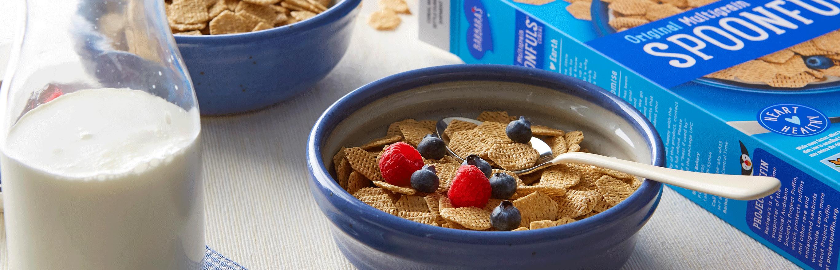 Barbara's Original Multigrain Spoonfuls cereal in bowl